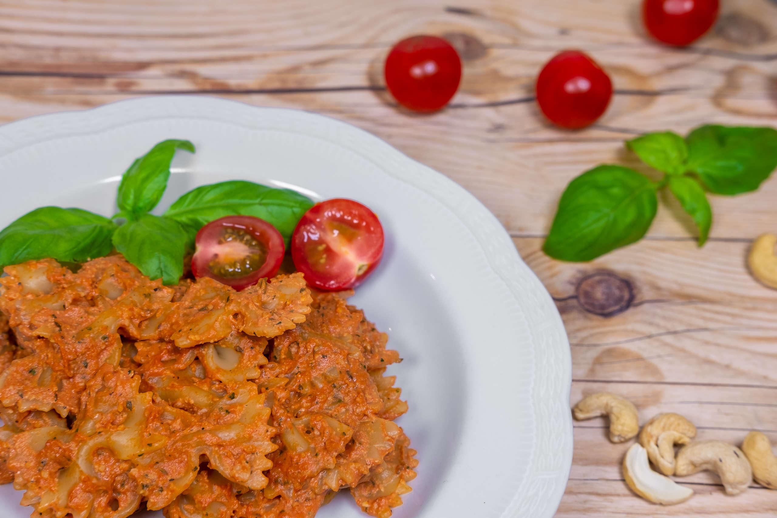 Vegansk tomatpasta recept pastasås