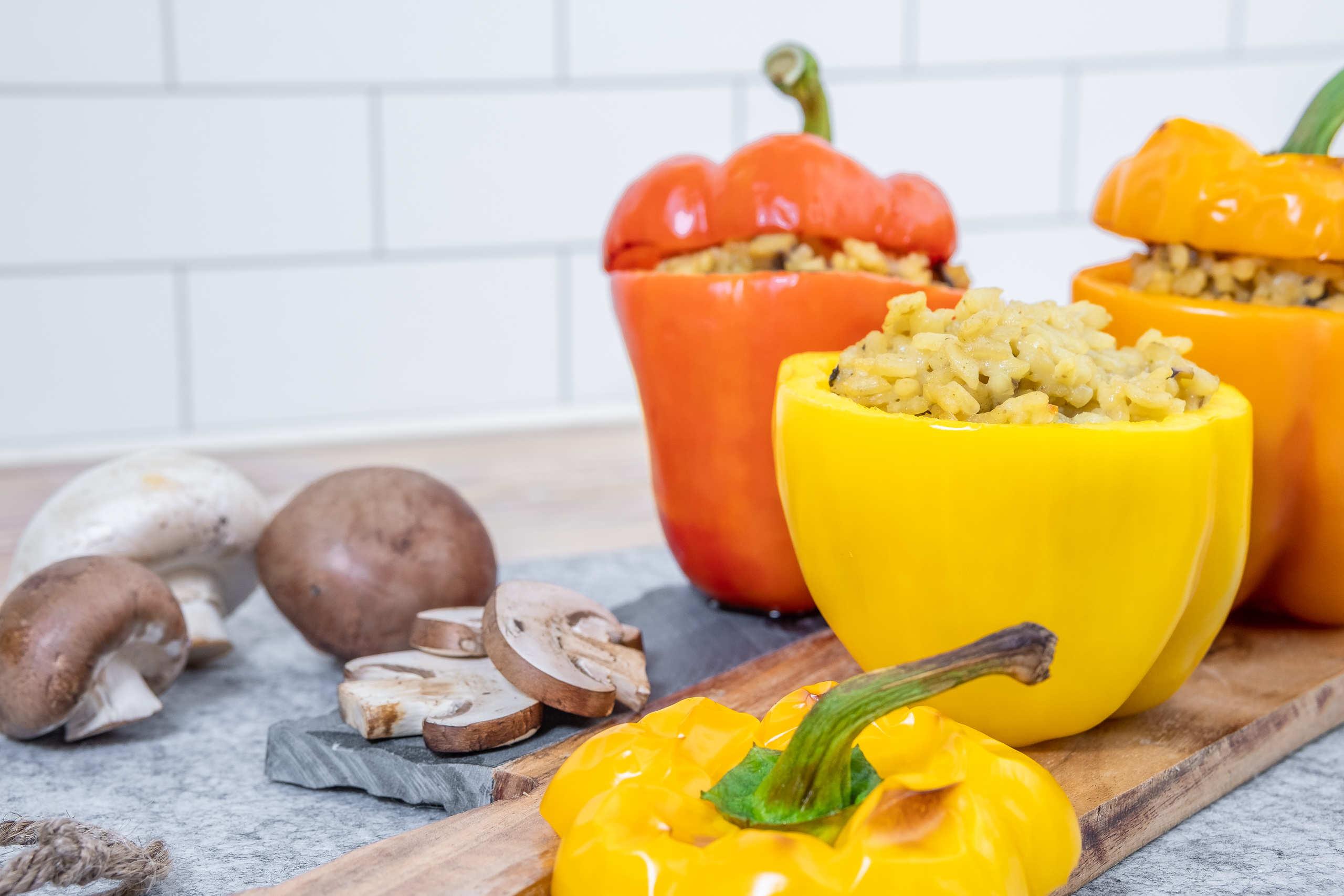 Recept fylld paprika med risotto