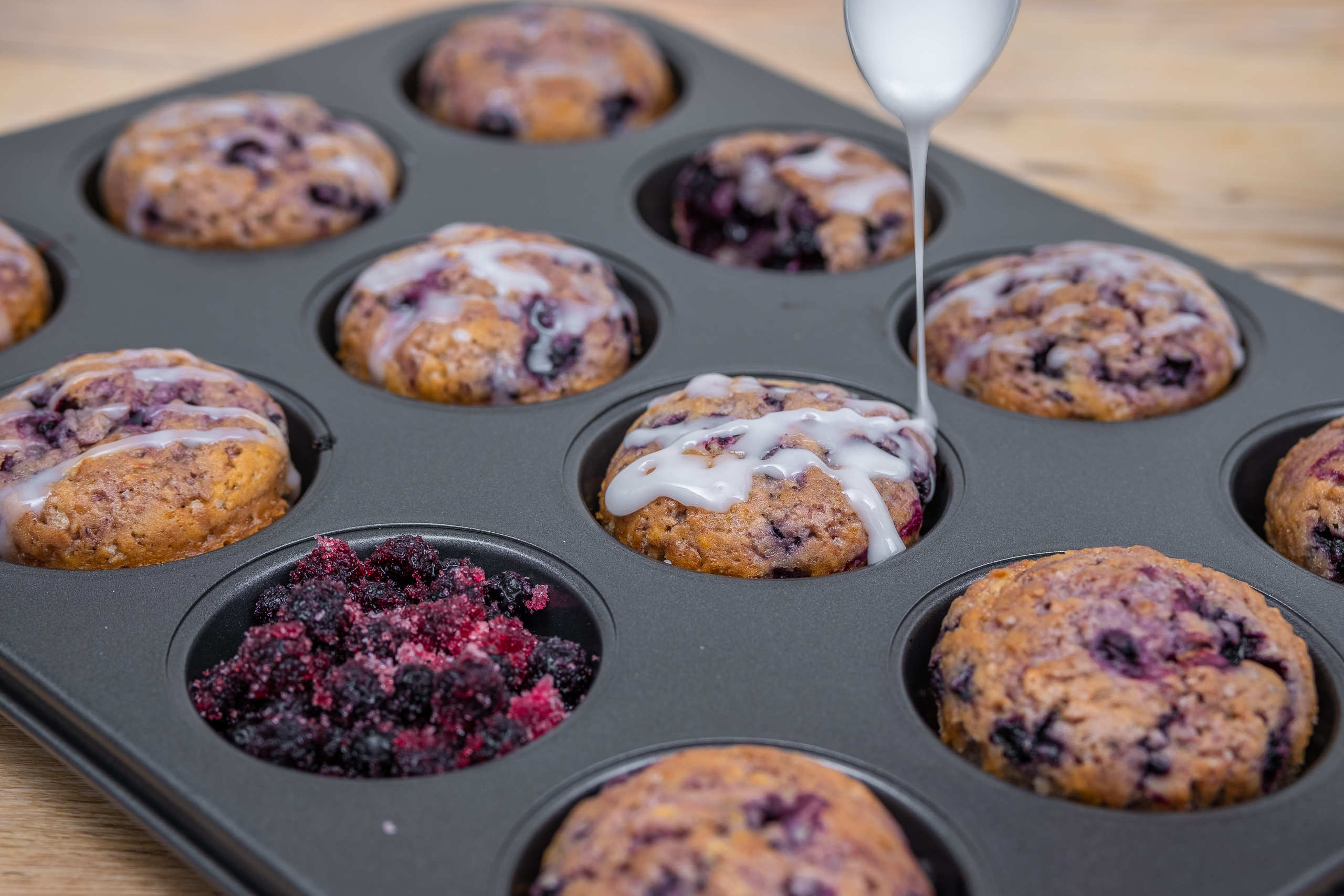 Vegan buleberry muffin