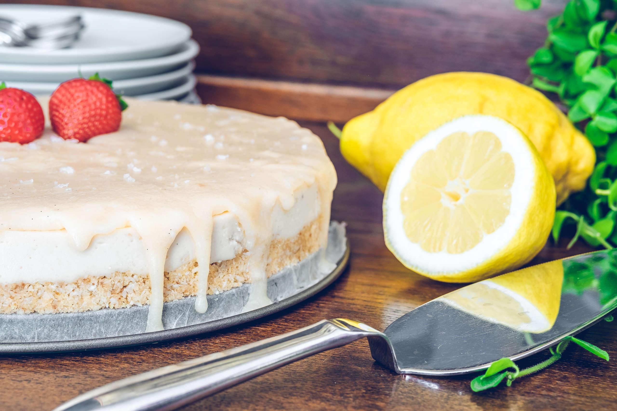 Raw vegansk cheesecake kokos kola