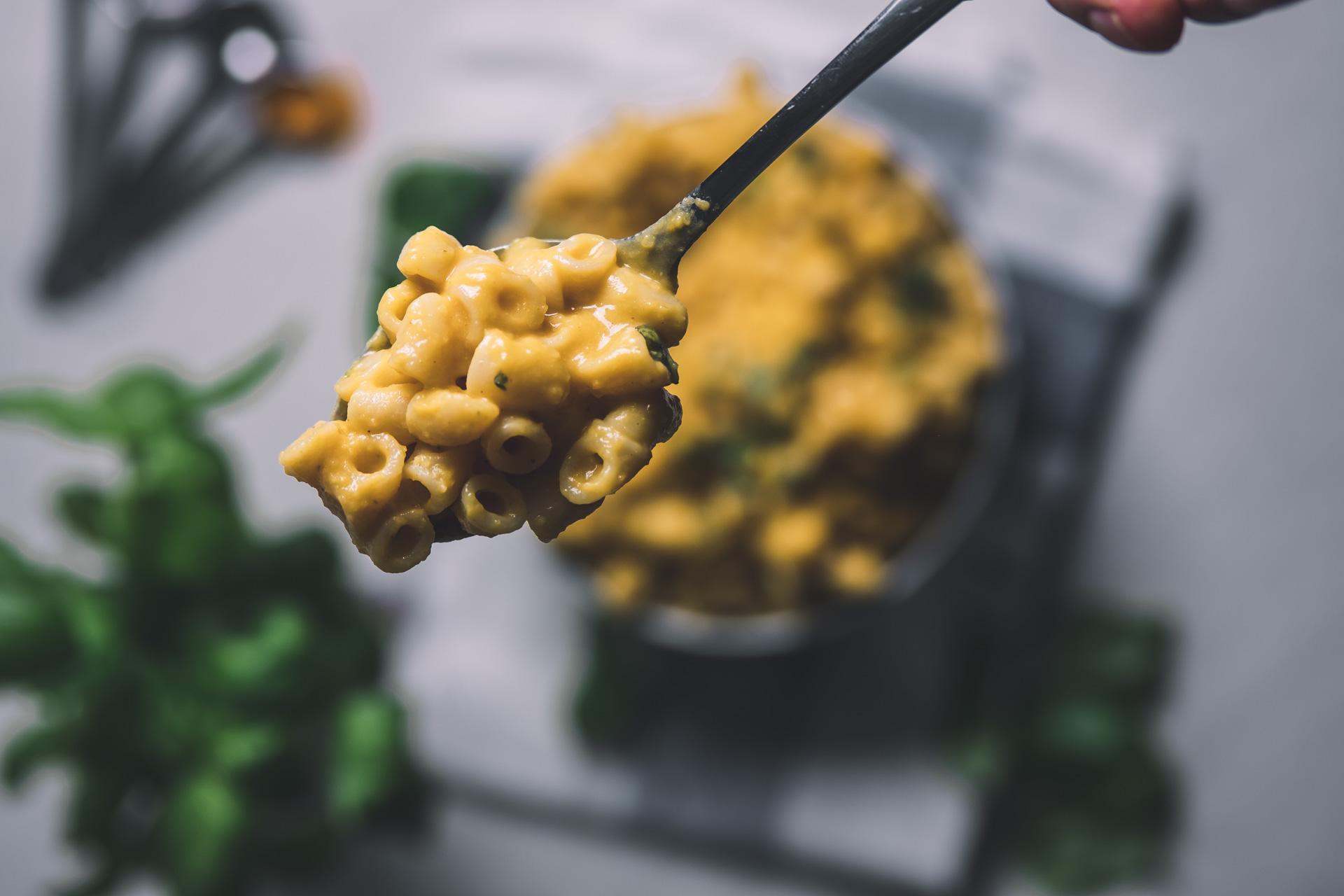 Vegansk mac n' cheese butternut nyttig