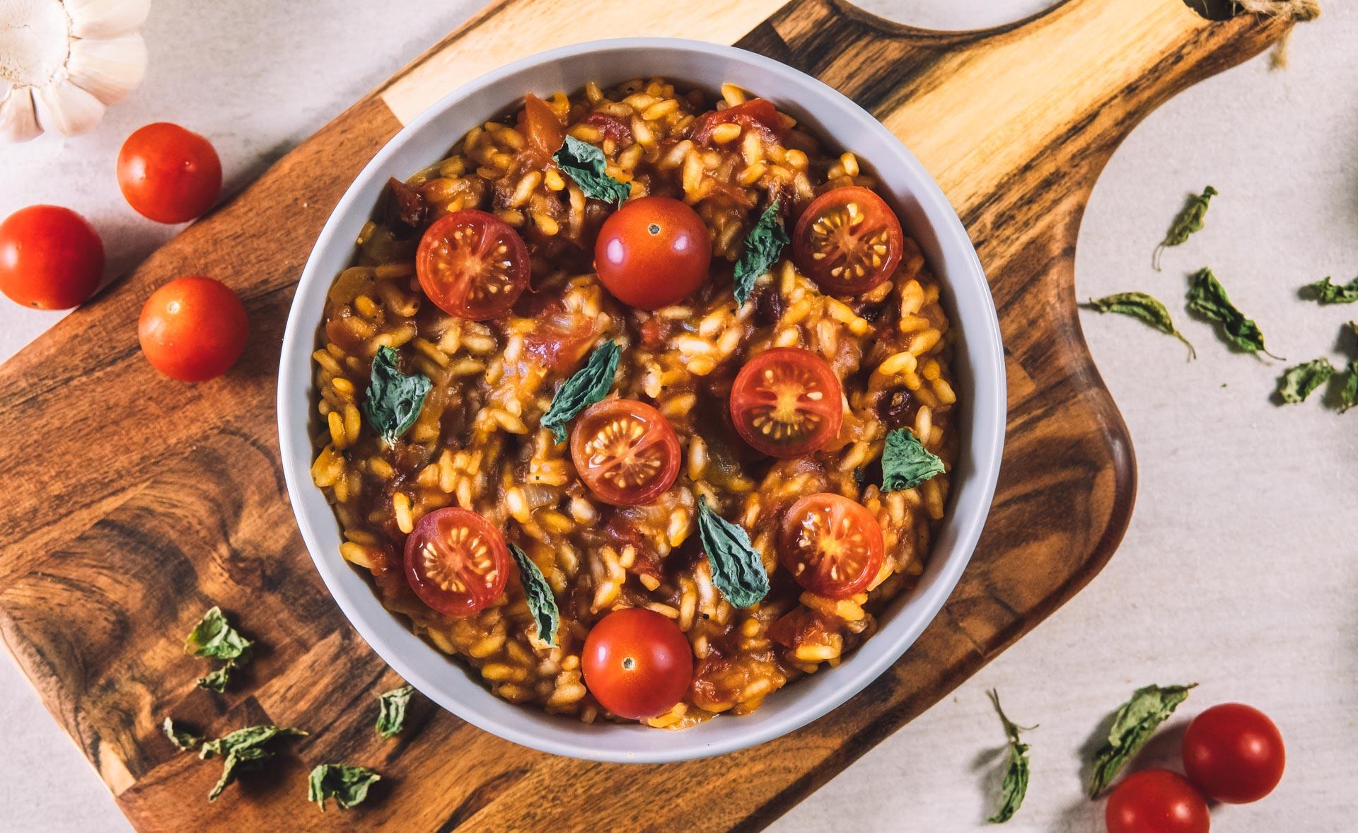 Vegansk risotto tomatrisoto
