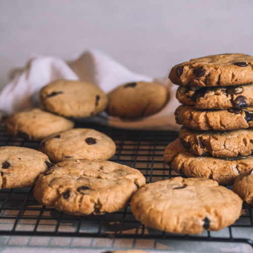 Recipe vegan chocolate filled chocolate chip cookies