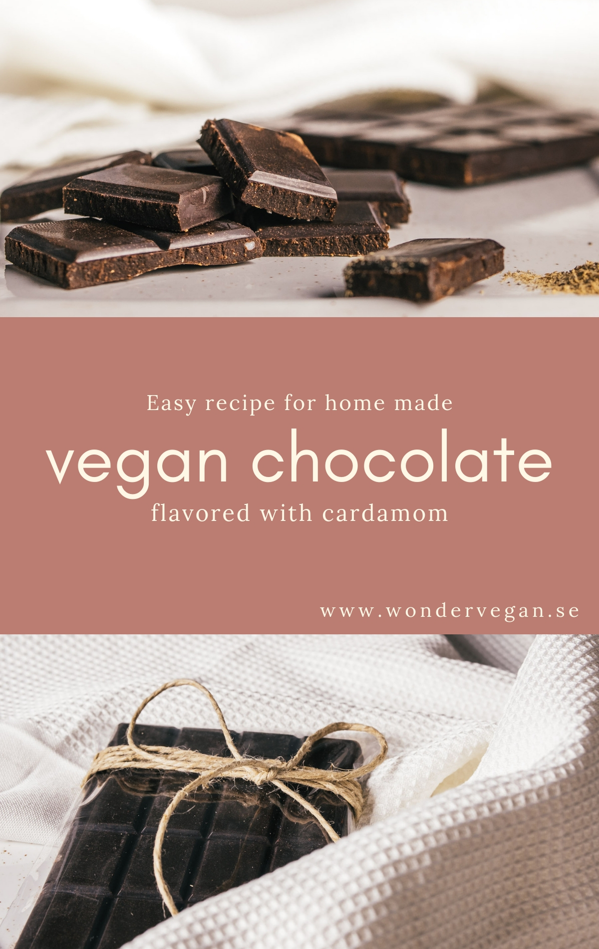 Recipe vegan chocolate cardamom home made