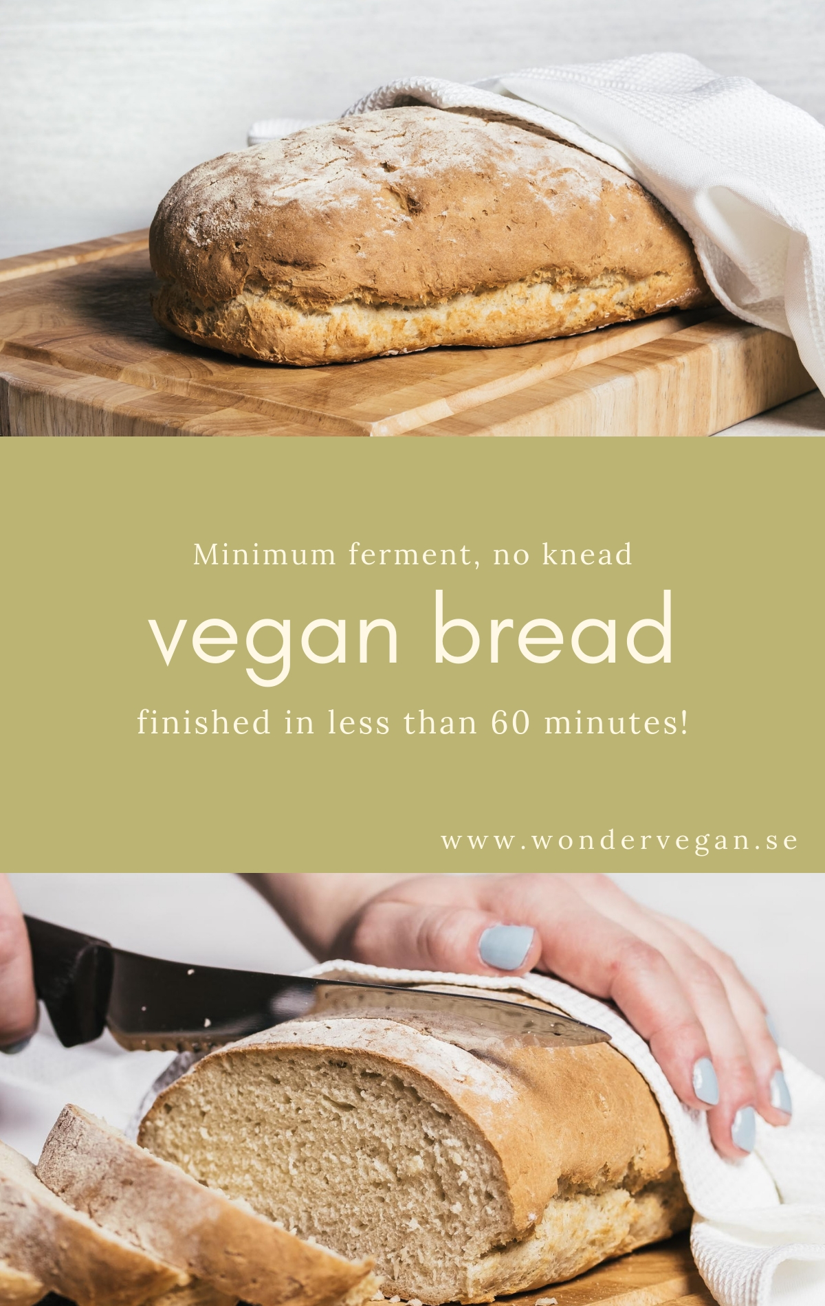 Vegan bread recipe easy fast pinterest