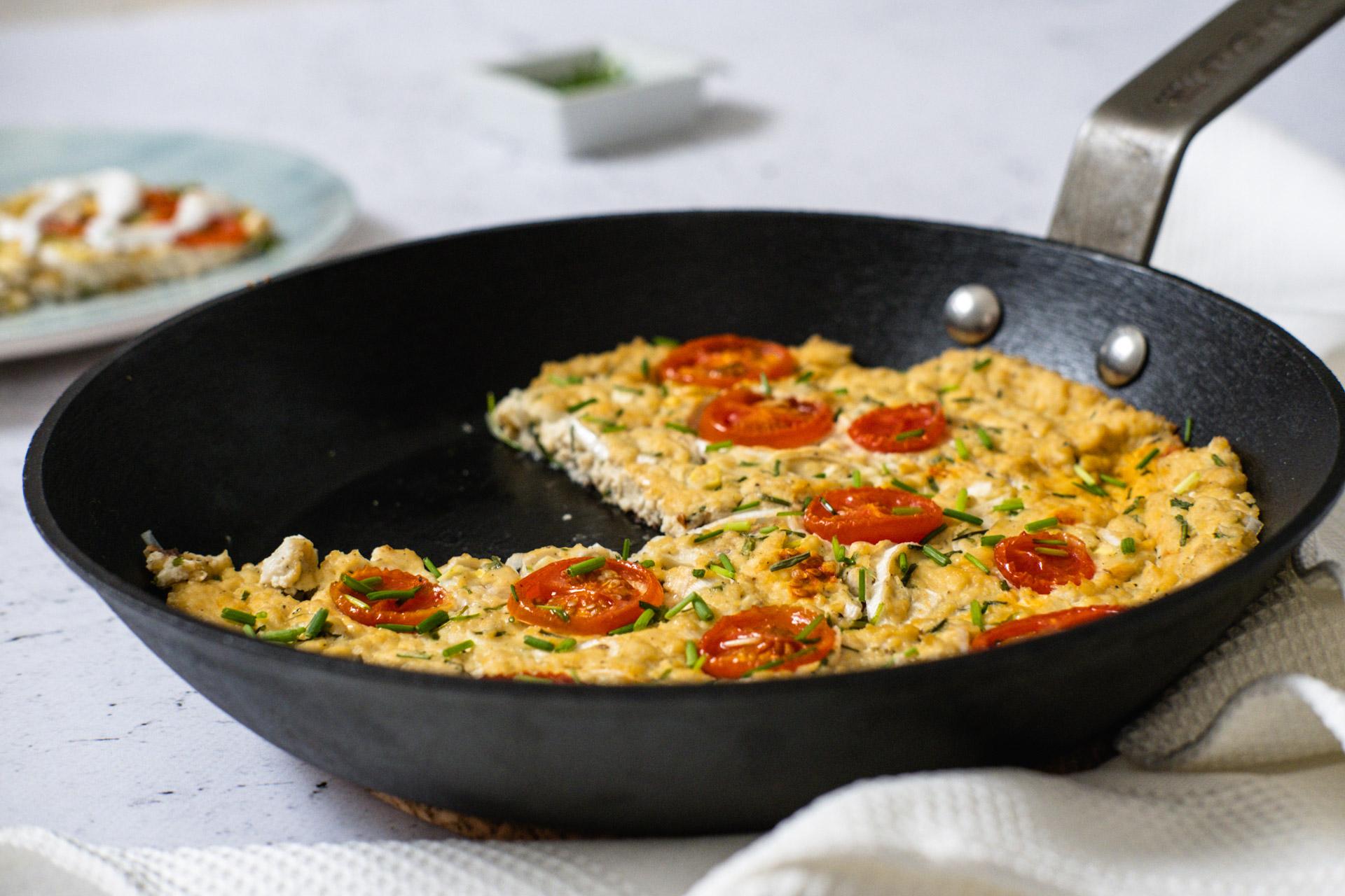 Vegansk omelett tofu recept