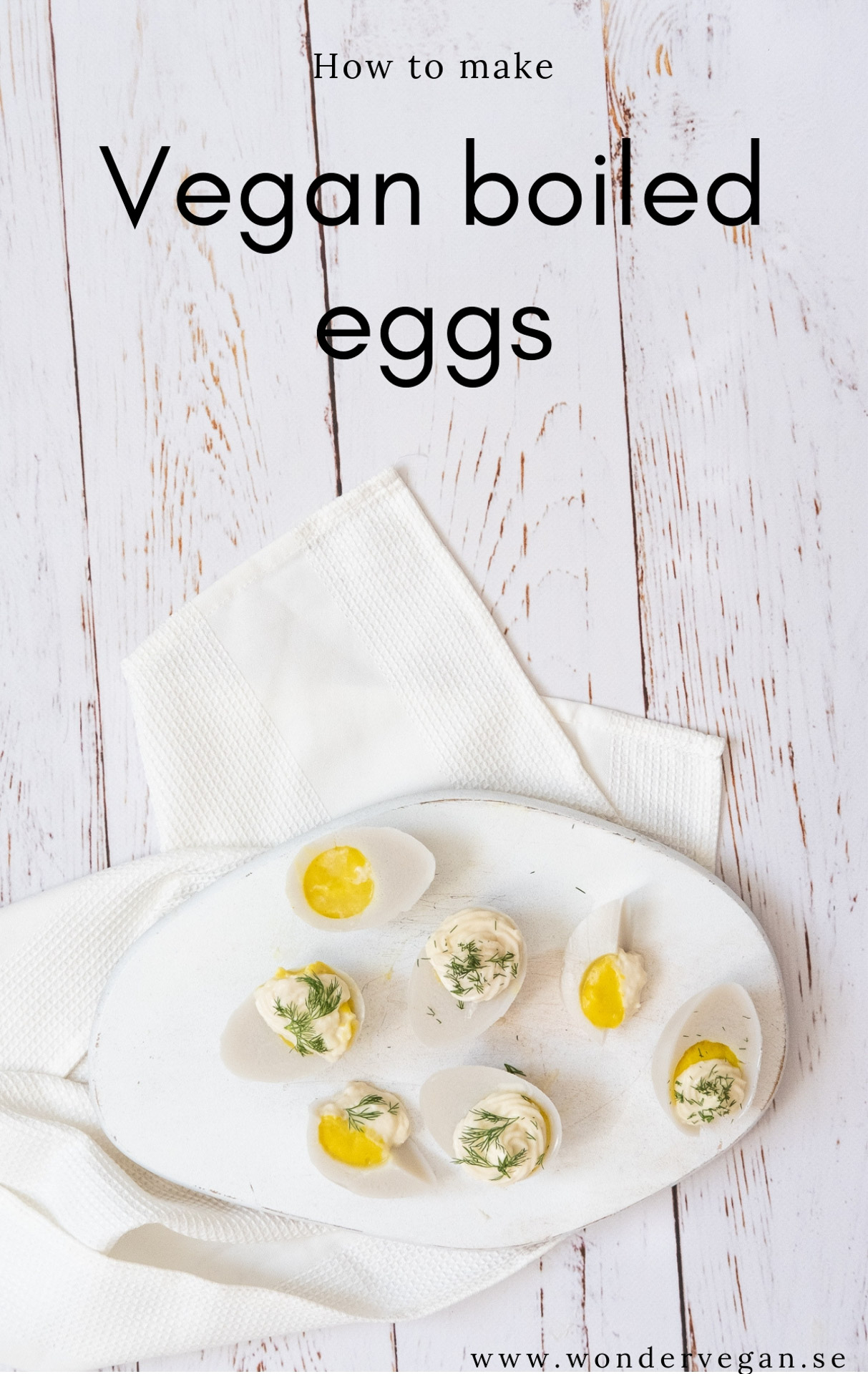 Vegan boiled egg eggs recipe