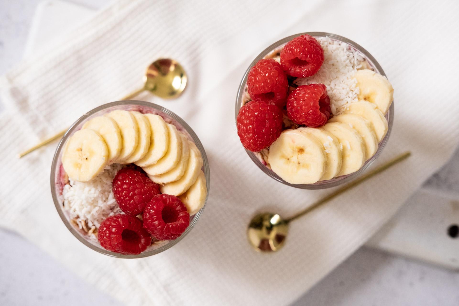 Overnight oats med hallon och vanilj