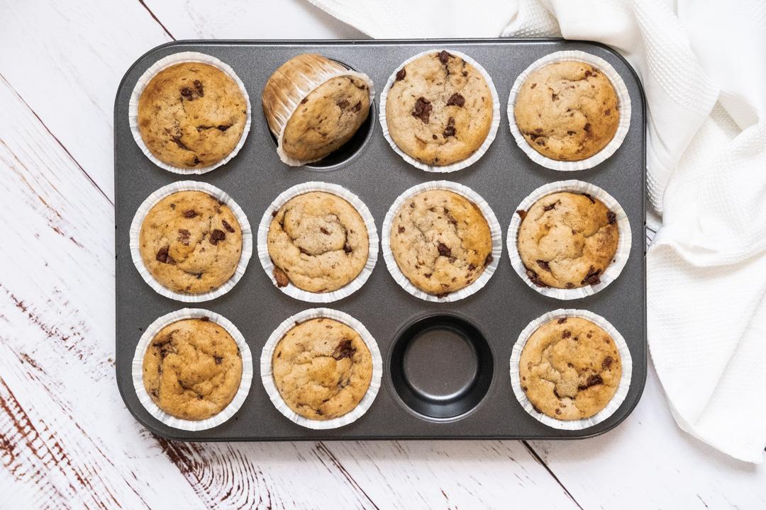 Veganska bananmuffins med choklad recept