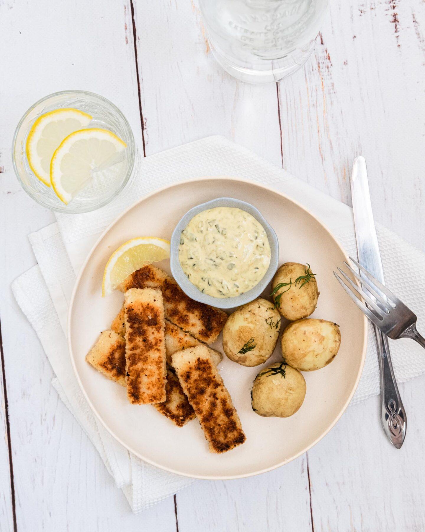 Veganska fiskpinnar mannagryn recept
