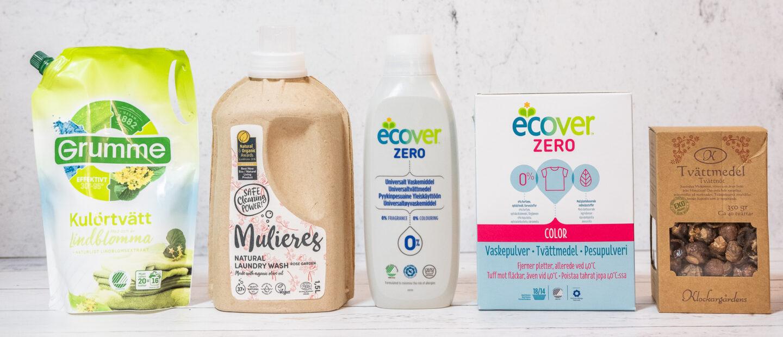 Veganska miljövänligt tvättmedel test grumme ecover mulieres klockargårdens